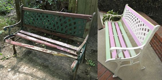 Garden bench renovation project.