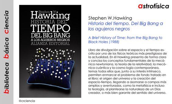 Stephen W.Hawking - Historia del tiempo. Del Big Bang a los agujeros negros (1988)