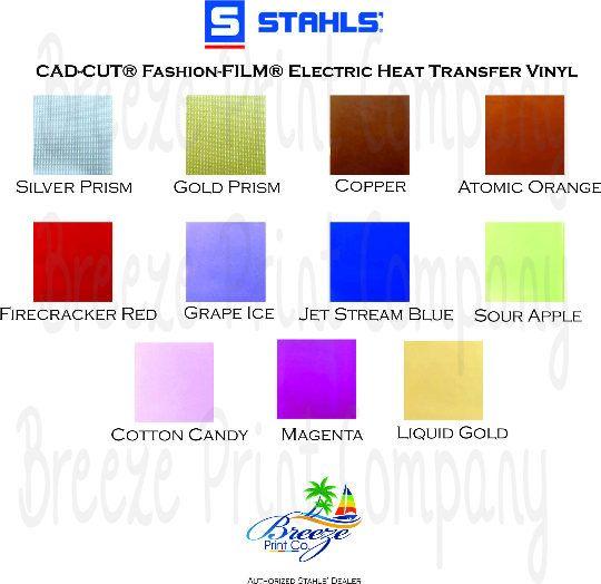 Stahls Fashion Film Electric Htv 15 Inch X 1 Yard Roll Etsy Fashion Film Heat Transfer Vinyl Stahls