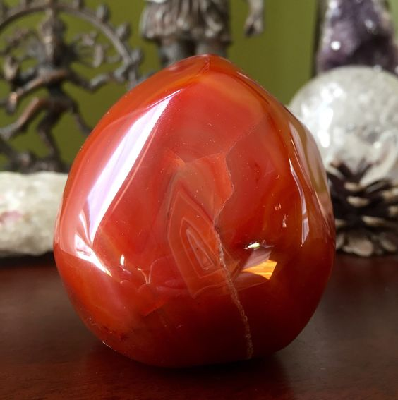 A personal favorite from my Etsy shop https://www.etsy.com/listing/454244026/gorgeous-polished-carnelian-crystal