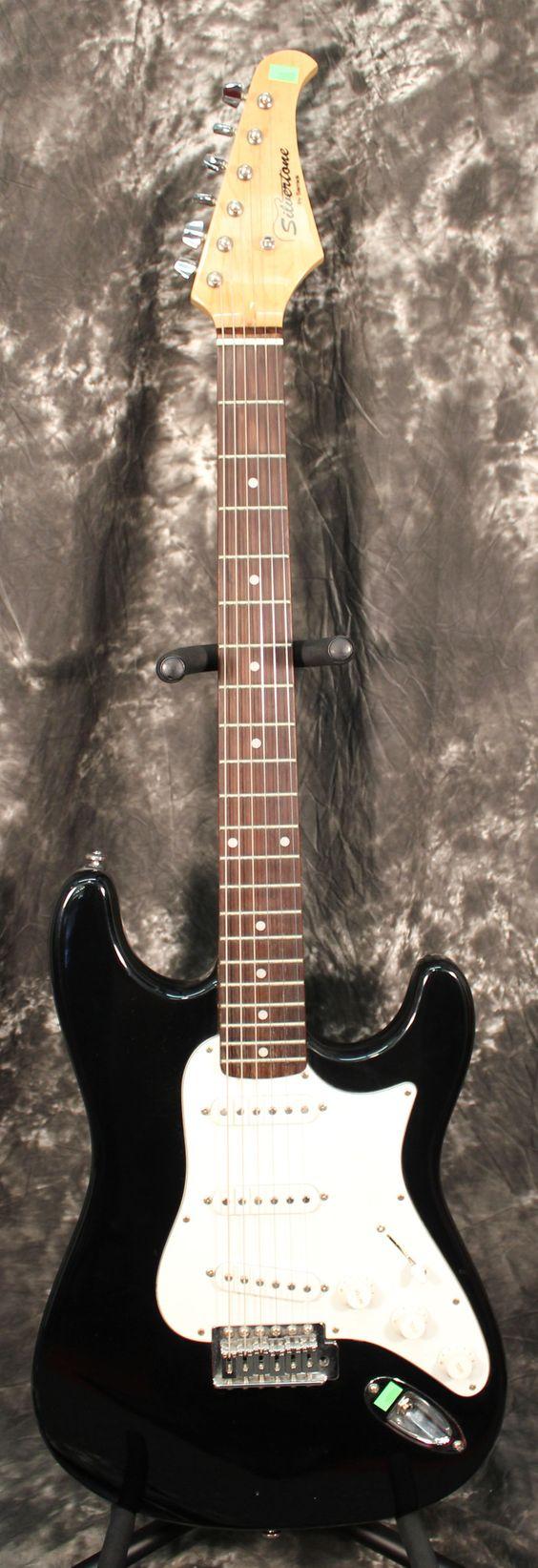 Silvertone by Samick Strat Style Electric Guitar Black