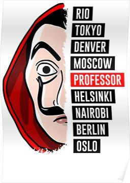 50 Money Heist Stickers La Casa De Papel Rio Tokyo Denver Berlin Oslo Professor