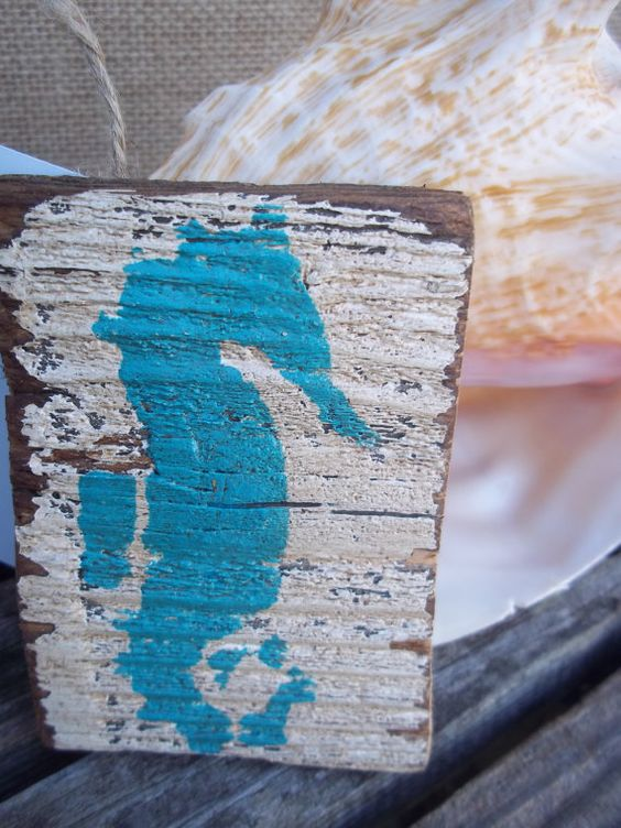 Seahorse Dolphin or Crab Beach House Salvaged by ELouiseBoutique, $7.50