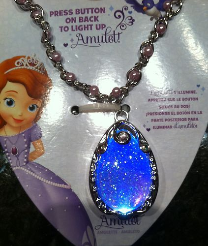 Disney Store Sofia The First Light Up Amulet Necklace