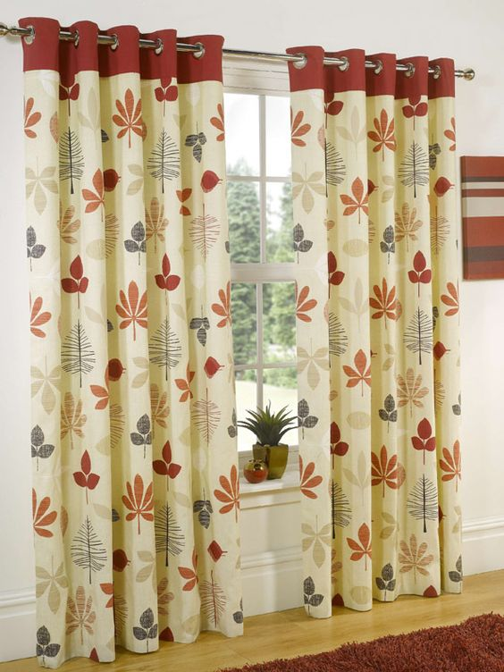 Curtains Ideas best ready made curtains uk : Sienna Red Ready Made Curtains 50% off (from: £19.20) For the ...