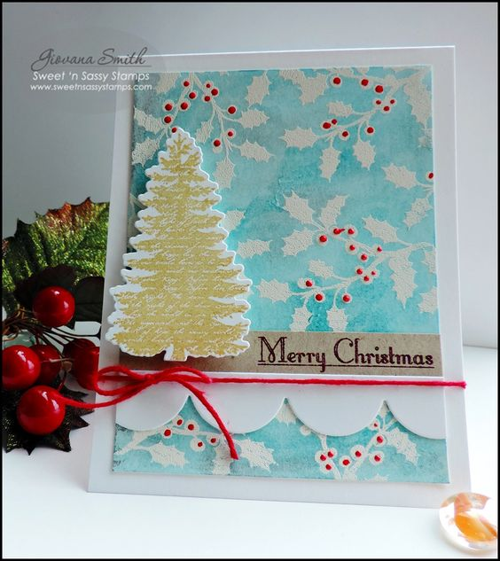 Sweet 'n Sassy Stamps used: Christmas Silhouettes set, Christmas Silhouettes Die set, Scallop border die.