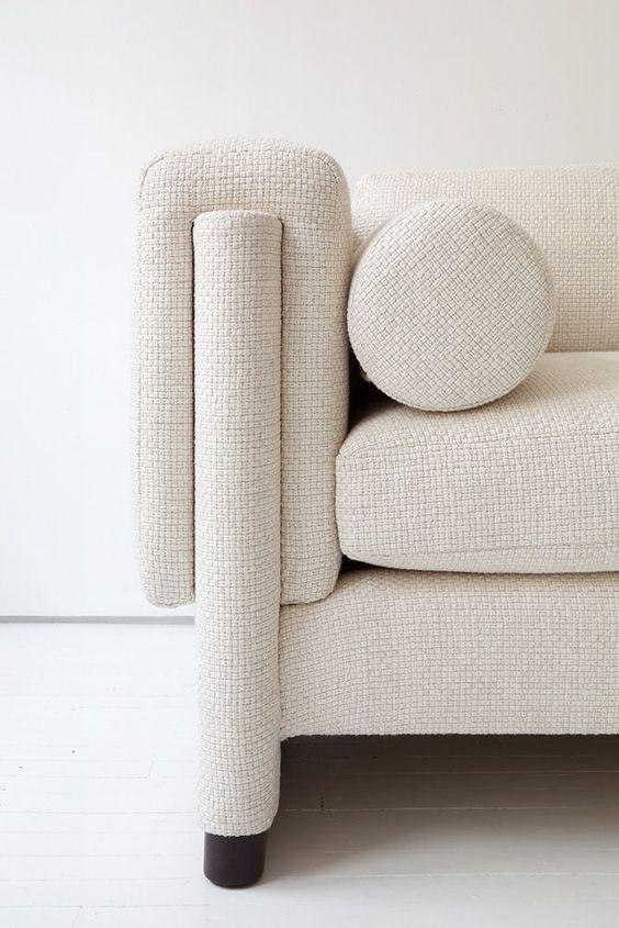 off white textured modern minimal sofa shapes circle lines interlocking egg collective.