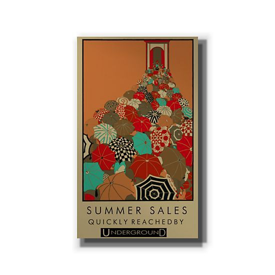 London Underground, Summer Sales, Umbrellas by Travel - V00244 - #GalleryDirect