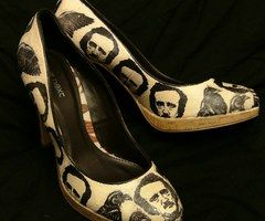 Edger Allen Poe shoes. DIY