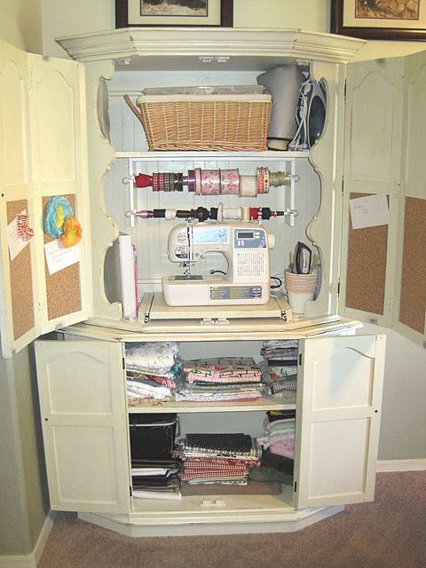 Sewing Cabinet How Cool Furniture Make Over Ideas
