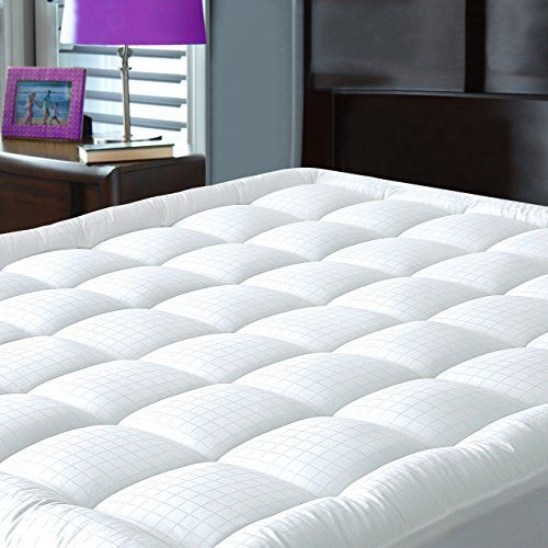 Pillowtop Mattress Pad Cover King Size Hypoallergenic Cotton