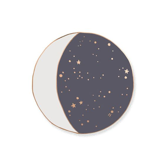 Moon Phase Enamel Lapel Pin Badge // Limited Edition by OHNORachio $10/48: