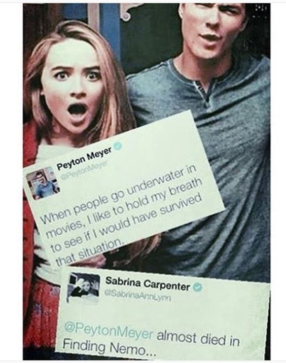 I love these two not only as Lucas and Maya, but also as Peyton and Sabrina!