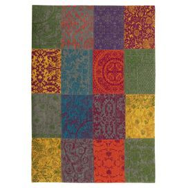 We love the vibrant tones and mixed patterns of this stunning mixed wool rug, perfect for adding texture to your Russian scheme.   www.jossandmain.co.uk