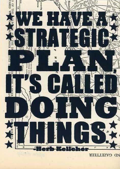 Silkscreen Screenprint We Have A Strategic Plan It's by miriamdema