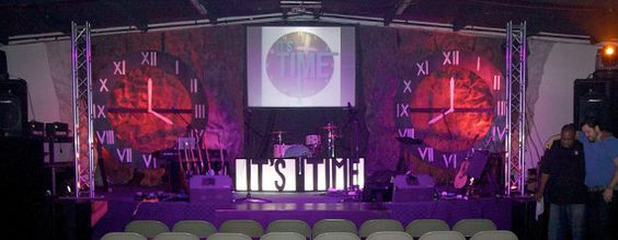 It's Time | Church Stage Design Ideas