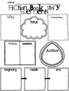 Worksheets Elements Of Fiction Worksheet graphic organizers graphics and google on pinterest fiction fable story elements worksheet
