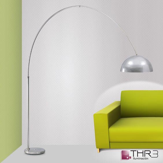 Thr3 iluminacion lampara de pie castiglione arco jobs - Iluminacion de pie ...