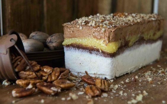 Torta de gelada de nozes - chef Angela Chapon  (Foto: Divulgao / Tiago Masiero)