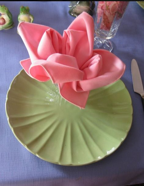 Napkins Tutorials And Flower On Pinterest