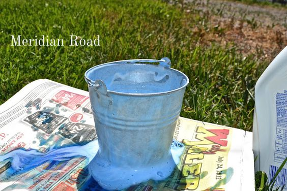 Toilets galvanized buckets and beauty on pinterest for Galvanized metal sheets for crafts