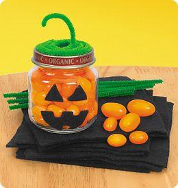 kids craft Halloween jars