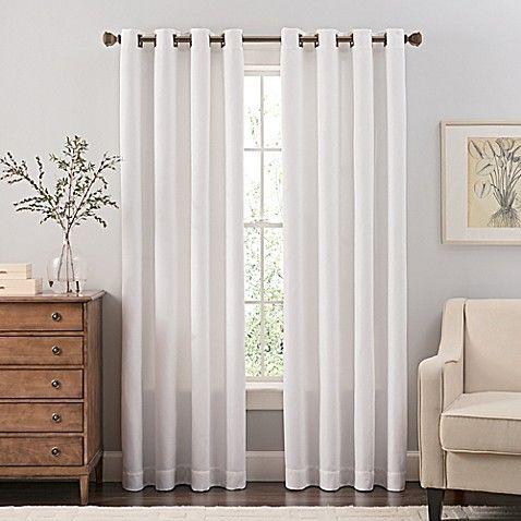 Reina 108 Inch Grommet Top Window Curtain Panel In Steel Grey