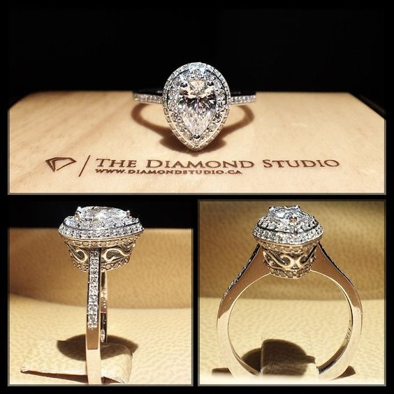 Vintage Pear Shaped Diamond Rings Pinterest
