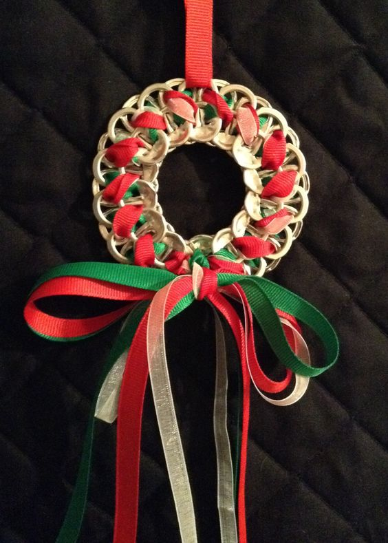 Soda Tab Wreath - PICTURE ONLY but you get the idea!