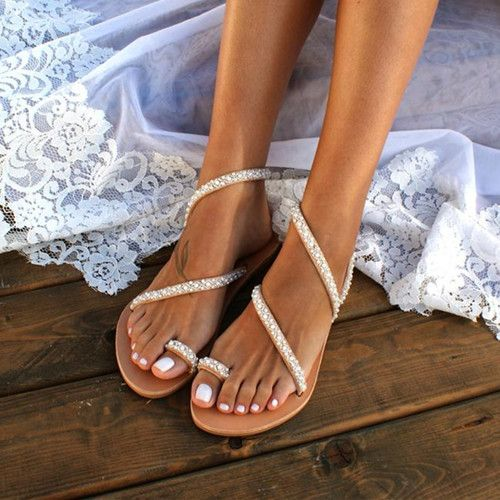 Women Summer Handmade Flip Flops Beach Sandals ZUCHIC