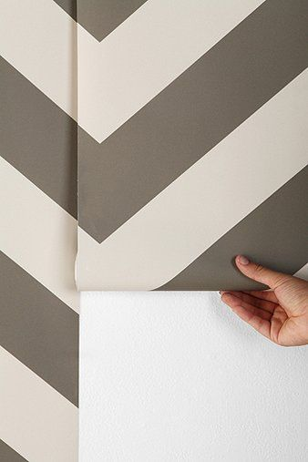 for the bathroom wall chevron wallpaper super easy to
