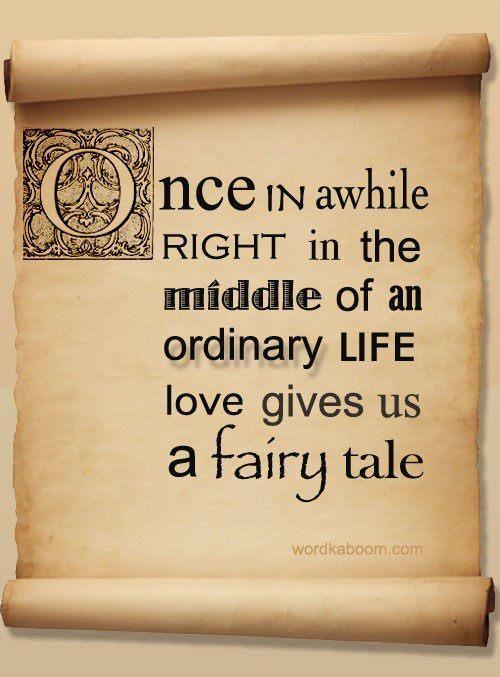 fairy tale....