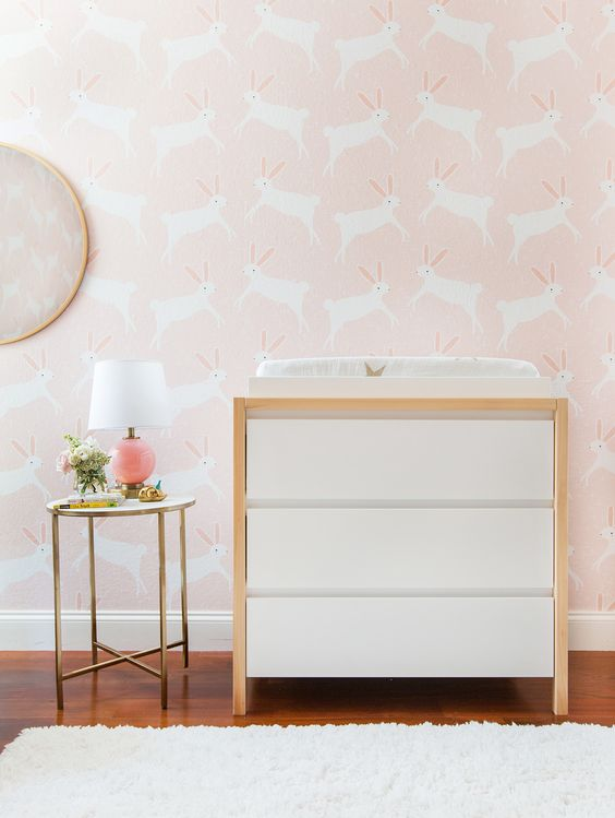 Pink Bunny Nursery for a Baby Girl: