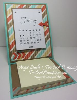 Wow Techniques Class: Retro Fresh Calendar Easel Card