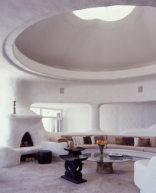 Dome Home Interior Design: Wondering About Cob Vs Earthship. I Suppose The Food