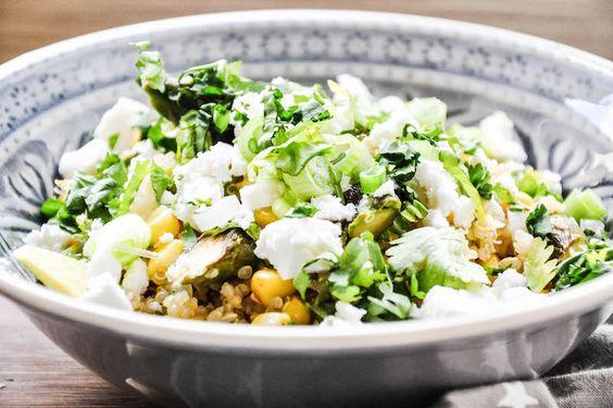 Quinoa salat tiny spoon