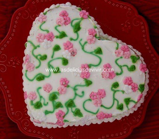 Pastel o Bizcocho de San Valentín