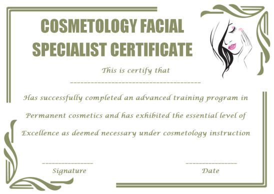 Pin On Cosmetology Certificate