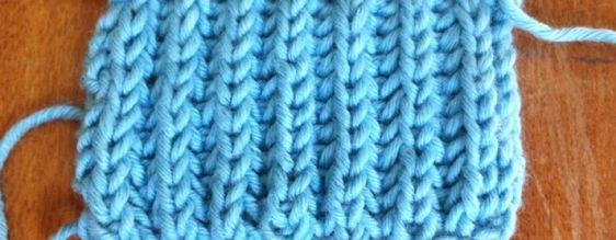 Example of the Brioche Stitch