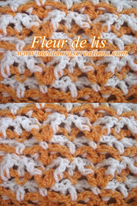 Here You Can Learn How To Make The Fleur De Lis Stitch By
