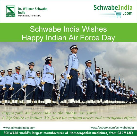 Happy India Air Force Day from Schwabe India.