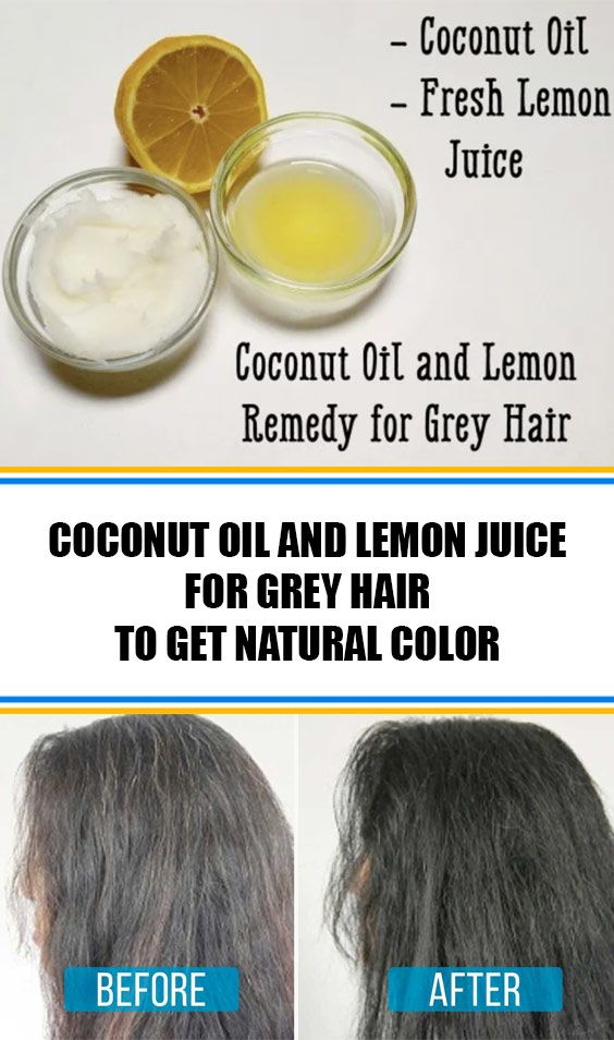 Coconut Oil And Lemon Juice For Grey Hair Get Natural Color