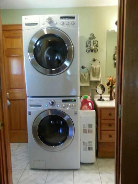 Pinterest o the worlds catalog of ideas for Bathroom ideas with washer and dryer