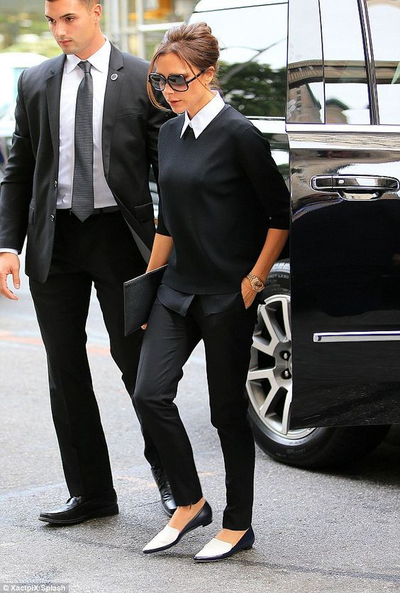 Victoria Beckham Street Styles In Flat Shoes | Chiko Shoes