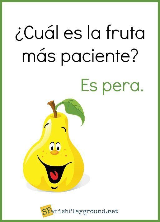 Spanish Jokes About Food For Kids Spanish Playground Funny Spanish Jokes Spanish Jokes Spanish Teacher Memes