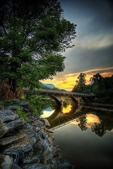 Lake Lure, NC, just down the road form Asheville. #northcarolina