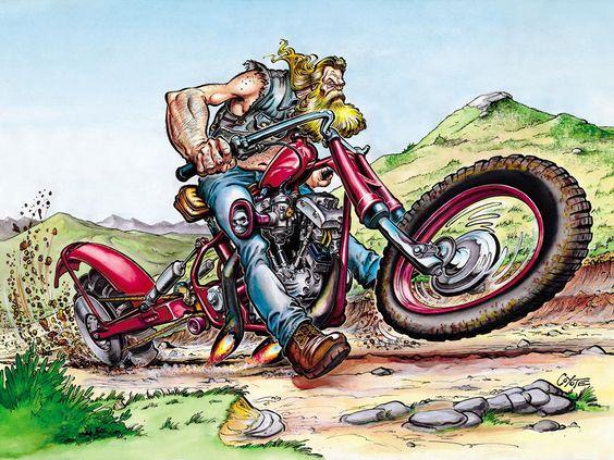 Coyote Le Papa De Litteul Kevin Et Mammouth Piston Wallpaper Bike Artwork Motorcycle Art Painting Biker Art