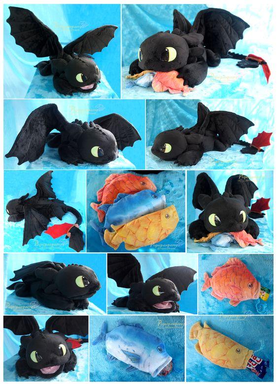 OOAK Toothless - Handmade plushie by Piquipauparro.deviantart.com on @DeviantArt  He is so cute!!!