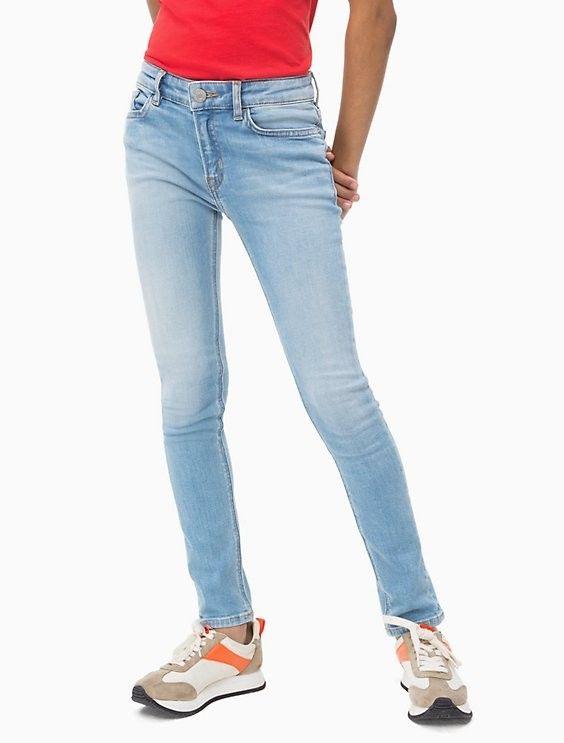 Calvin Klein Jeans Girls Light Blue