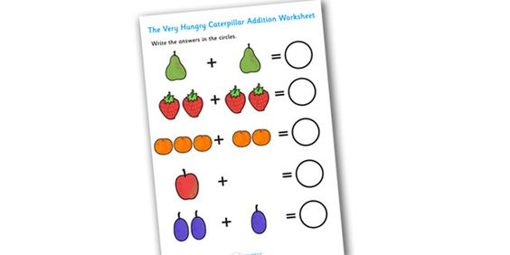 math worksheet : twinkl resources gt; gt; the very hungry caterpillar addition sheet  : Sen Maths Worksheets